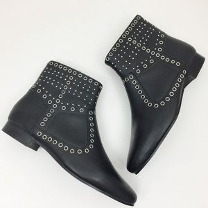 FRENCH CONNECTION Charlene Riveted Ankle Boots